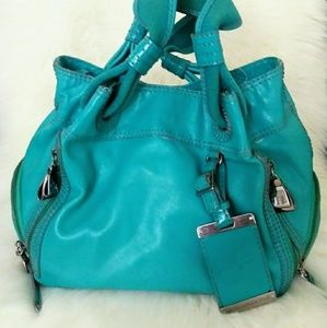 Turquoise BCBG Maxazria leather purse